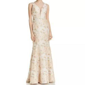 Formal Dress Size 12 Aidan Mattox Blush Gold Gown